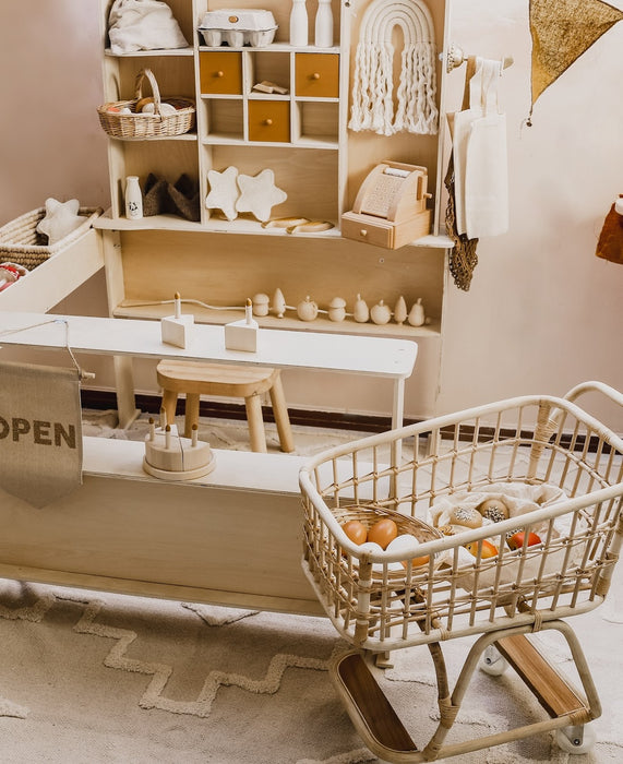 Poppie Rattan Shopping Cart on Design Life Kids (c) Image owned by DLK