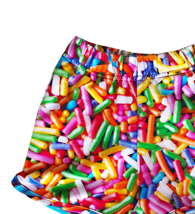 Romey Loves Lulu Rainbow Sprinkles Shorts on DLK | designlifekids.com