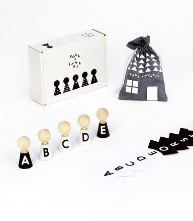 Rock and Pebble Alphabet Pebble Dolls on DLK | designlifekids.com
