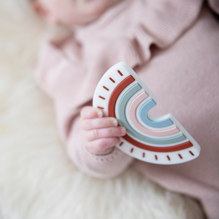 Rainbow Silicone Teether on Design Life Kids