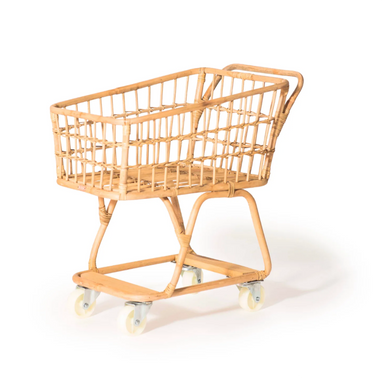 Poppie Rattan Shopping Cart for Kids on Design Life Kids