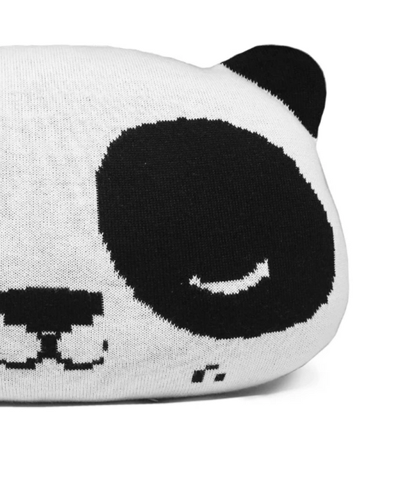 Rian Tricot Panda Cushion on Design Life Kids