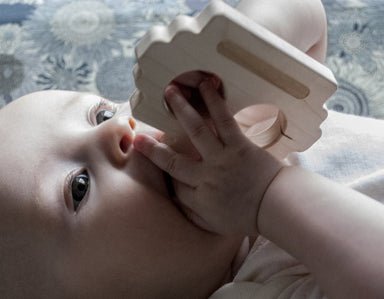 Loullou Robot Eco Friendly Teether on DLK | designlifekids.com