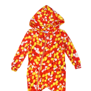 Candy Corn Zippered Hoodie Spacesuit