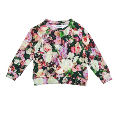 Romey Loves Lulu Floral Peonies Sweatshirt on Design Life Kids