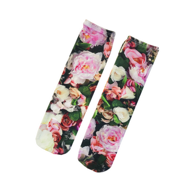 Romey Loves Lulu Peonies Socks on Design Life Kids