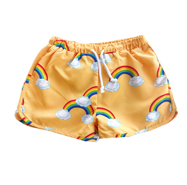 Romey Loves Lulu Rainbow Swim Shorts on Design Life Kids