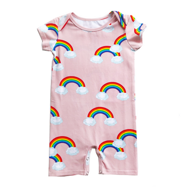 Romey Loves Lulu Rainbow Romper on Design Life Kids
