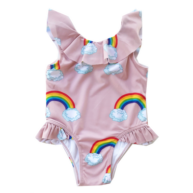 Romey Loves Lulu Ruffled Rainbow Swimsuit on Design Life Kids