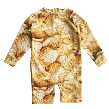 Romey Loves Lulu Potato Chips Rash Guard on Design Life Kids