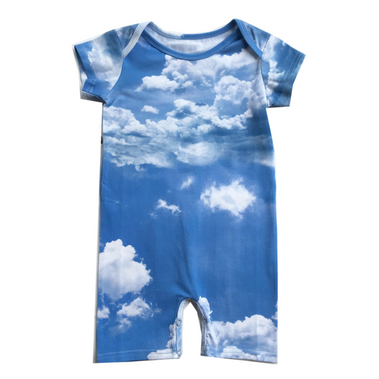 Romey Loves Lulu Clouds Romper on DLK | designlifekids.com