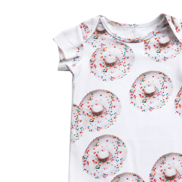 Romey Loves Lulu Donut Short Romper on Design Life Kids