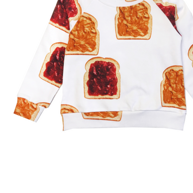 Romey Loves Lulu Peanut Butter and Jelly Sweatshirt on Design Life Kids
