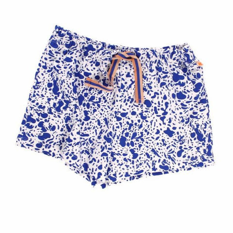 Tiny Cottons Blue Enamel Shorts on DLK