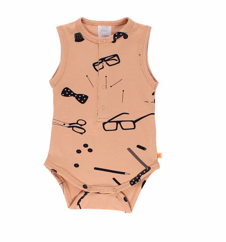 Tiny Cottons Tailor's Tank Sleeve Bodysuit on DLK