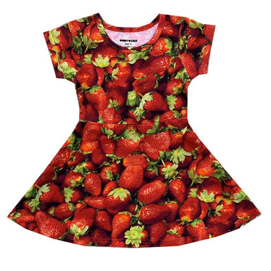 Romey Loves Lulu Strawberries Skater Dress on Design Life Kids