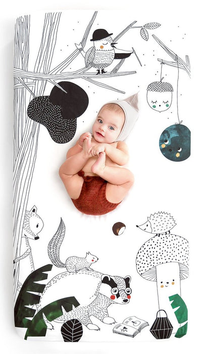 Rookie Humans Woodland Friends Crib Sheet on DLK | designlifekids.com