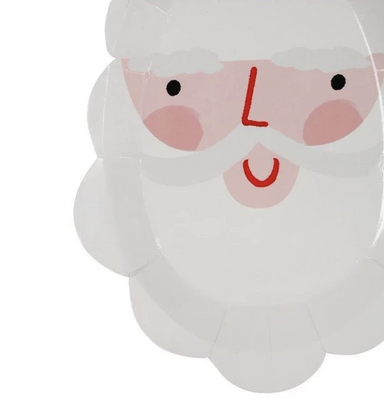 Meri Meri Santa Shaped Party Plates on Design Life Kids