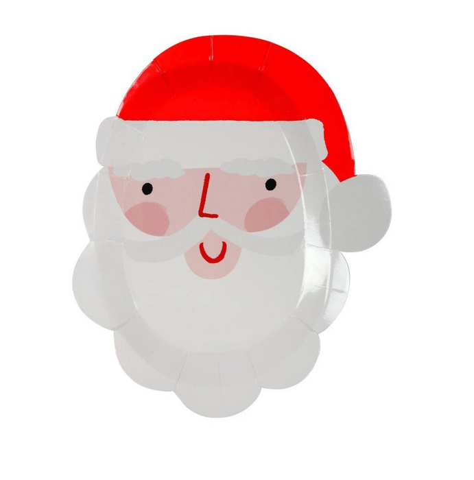 Santa Shaped Party Plates on Design Life Kids
