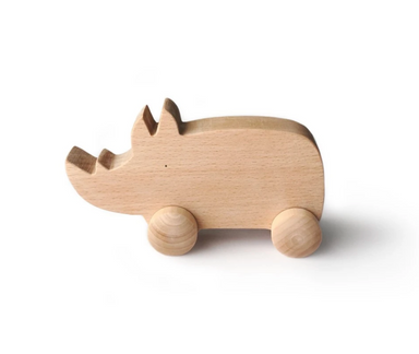 Tangerine Toys Wooden Rhino on Design Life Kids