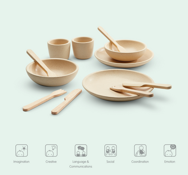 Plan Toys Wooden Tableware Set on Design Life Kids