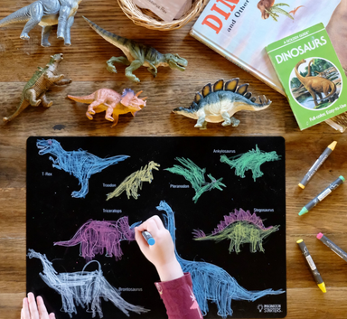 Dinosaurs Chalkboard Placemat on Design Life Kids
