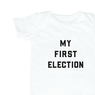 Love Bubby First Election Onesie on Design Life Kids