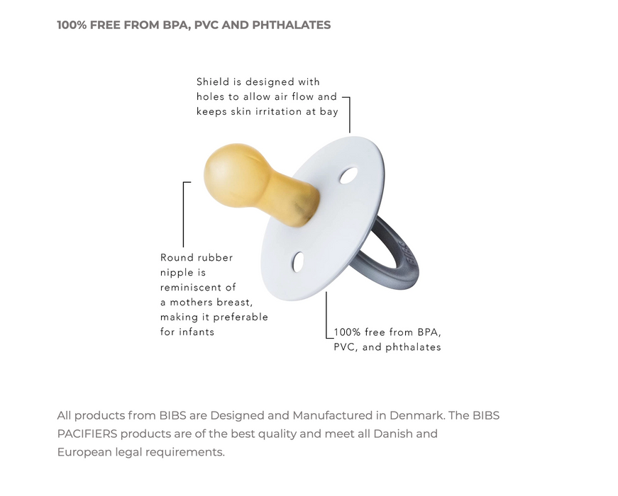 Bibs Natural Rubber Pacifier on Design Life Kids