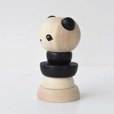 Wee Gallery Panda Wooden Stacker on Design Life Kids