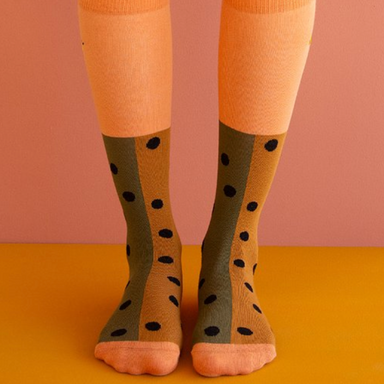 Sticky Lemon Sprinkles Knee High Socks on Design Life Kids