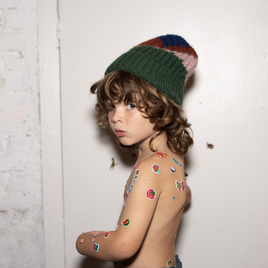 Bobo Choses Knitted Scarf and Hat Set on Design Life Kids