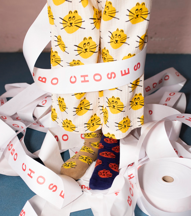 Bobo Choses Fun Cat Socks on Design Life Kids