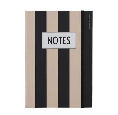 Design Letters Classic Striped Notebook on Design Life Kids