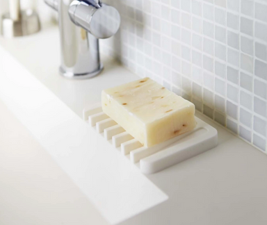 Yamazaki Flow Self Draining Soap Tray on Design Life Kids