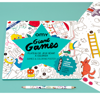 Games Coloring Poster Set
