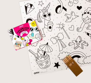 OMY Pocket Coloring Set  on Design Life Kids