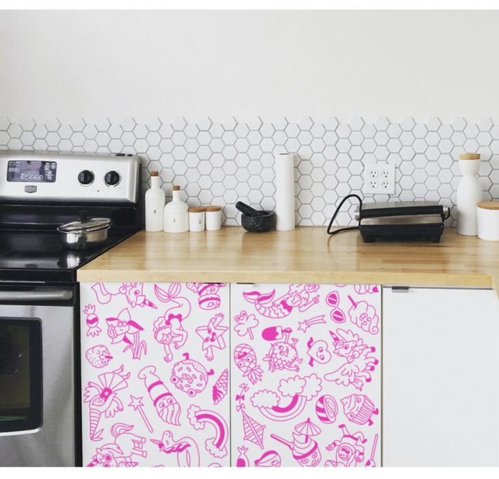 OMY Stick IT Removable Coloring Rolls Wallpaper on Design Life Kids