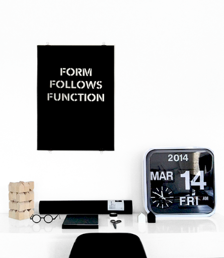 Cinqpoints FORM FOLLOWS FUNCTION PRINT ON DLK