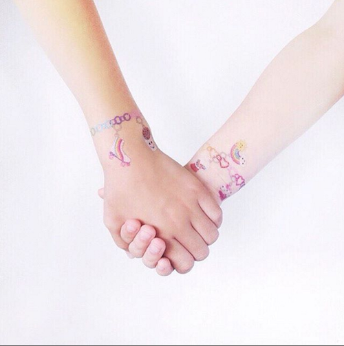 Tattly CHARM BRACELET TATTOO ON DLK
