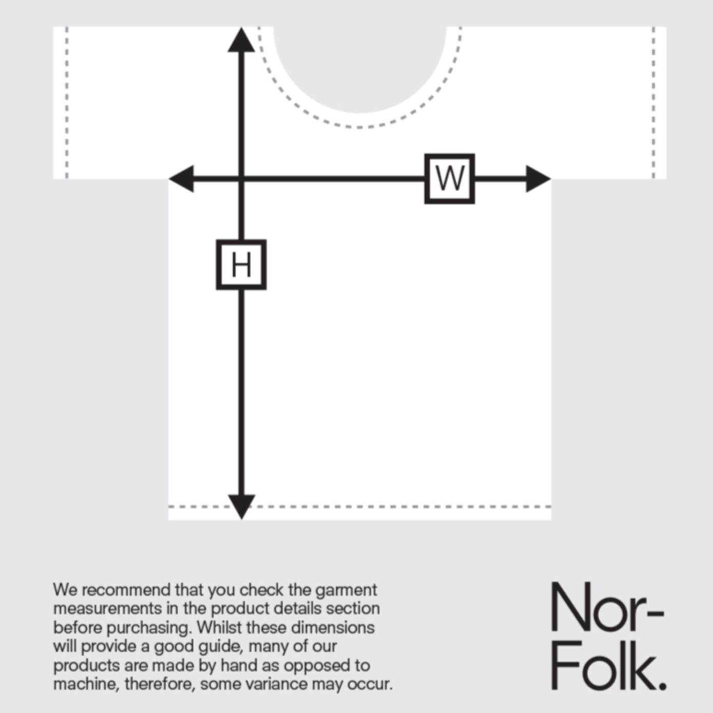 Nor-Folk Size Chart Adult Tee on DLK