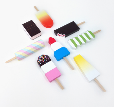Moon Picnic DIY Paper Icepops Ice Lollies Craft on DLK
