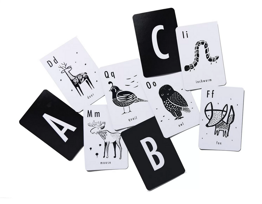 Wee Gallery Alphabet Cards on DLK | designlifekids.com