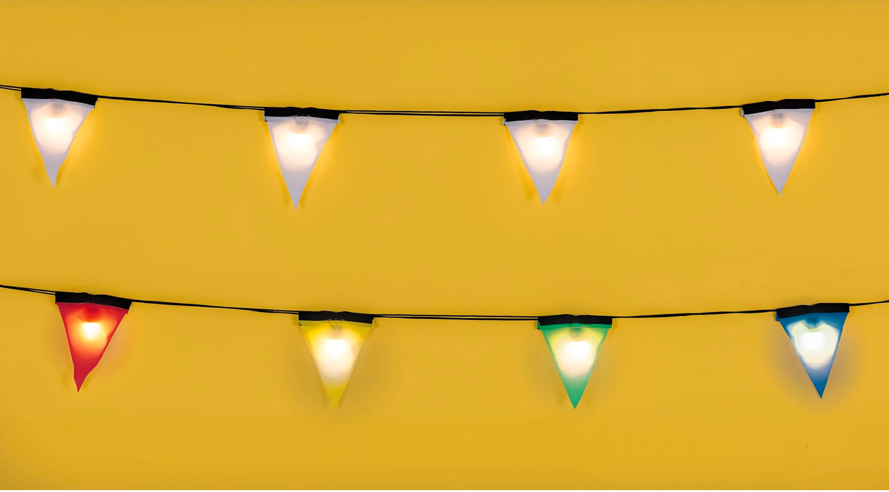 Seletti Sagra Flag Pendant Garland Lights on DLK | designlifekids.com