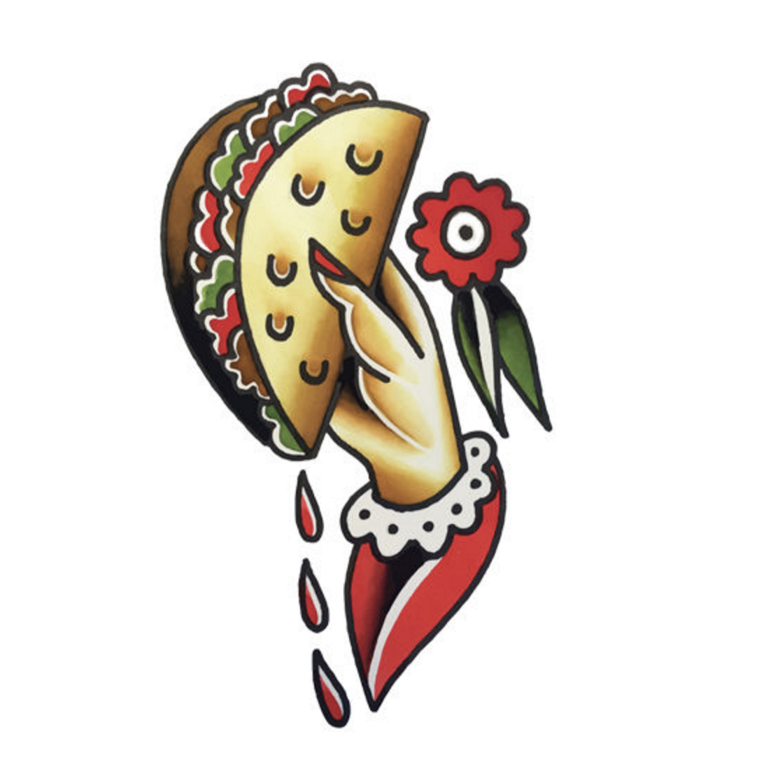 Tattly Taco To Go Tattoo on DLK | designlifekids.com