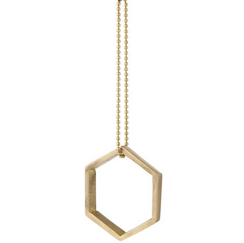 Brass Hexagon Ornament