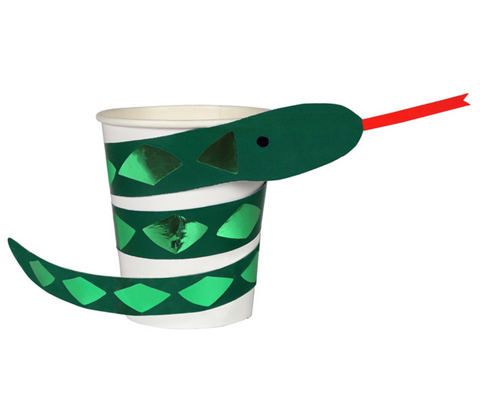 Meri Meri Go Wild Snake Party Cups on DLK