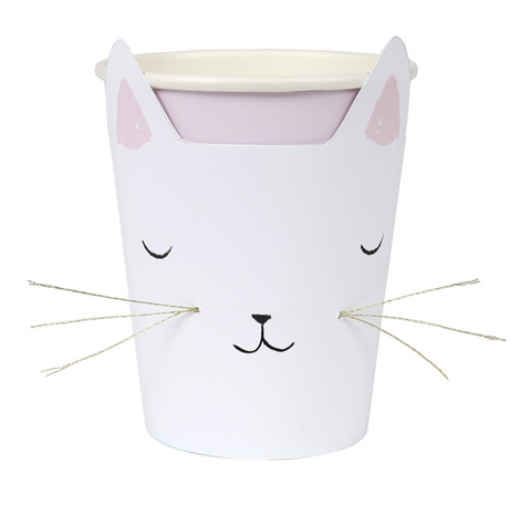Meri Meri Cat With Whiskers Party cups on DLK | designlifekids.com