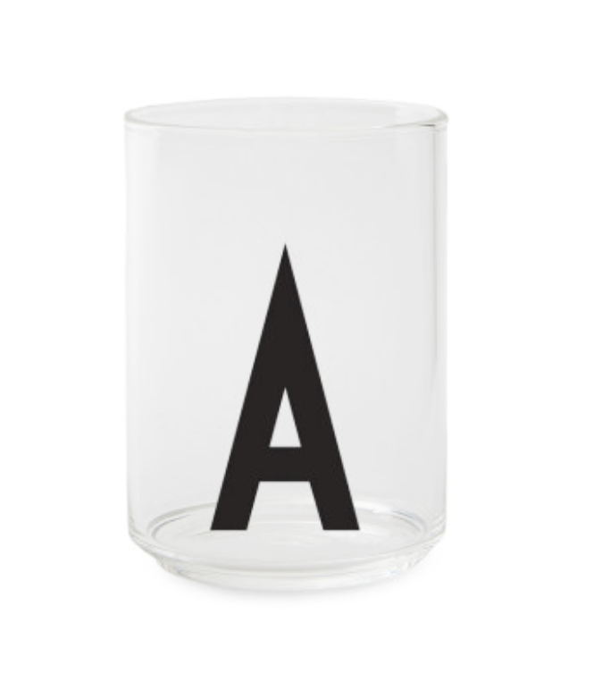 Design Letters Clear Personal Drinking Glass on DLK | designlifekids.com