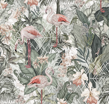 Jimmy Cricket Flamingo Wallpaper on DLK | designlifekids.com