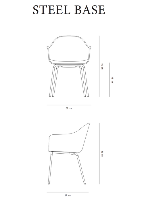 Harbour Chair with Steel Legs